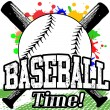 Stock Vector: Baseball Time poster