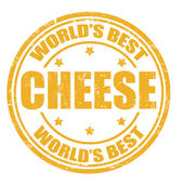 Cheese stamp — Stock Vector