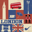 London Symbols Poster — Stock Vector