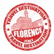 Stock Vector: Florence stamp