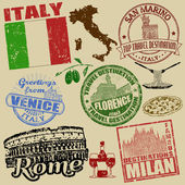 Stamps with Italy — Stock Vector