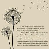 Blow dandelion concept poster — Stock Vector