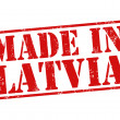 Made in Latvia stamp — Stock Vector