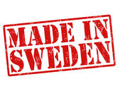 Made in Sweden stamp — Vettoriale Stock