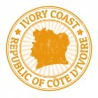 Ivory coast stamp — Stock Vector
