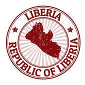 Liberia stamp — Stock Vector