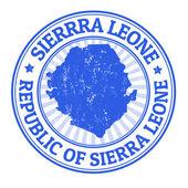 Sierra Leone stamp — Stock Vector