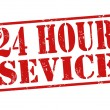 Stock Vector: 24 hour service stamp