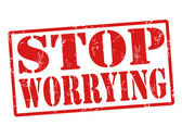 Stop worrying stamp — Stock Vector