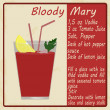 Stock Vector: Bloody Mary cocktail