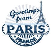 Greetings from Paris stamp — Stock Vector