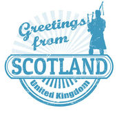 Greetings from Scotland stamp — Stock Vector