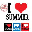 I love Summer sign and labels — Stock Vector