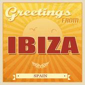 Ibiza, Spanien-poster — Stockvektor
