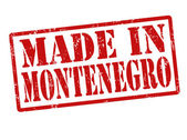 Made in Montenegro stamp — Stock Vector