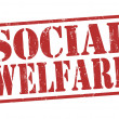 Social welfare stamp — Vettoriali Stock