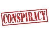 Conspiracy stamp — Stock Vector