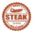 Stock Vector: Steak stamp