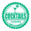 Stok Vektör: Cocktails stamp