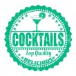 Stockvektor : Cocktails stamp