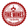 Fine wines stamp — Stock Vector