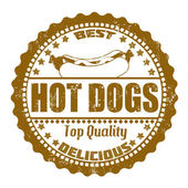 Hot Dogs stamp — Stock Vector