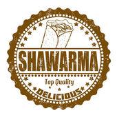 Shawarma stamp — Stock Vector