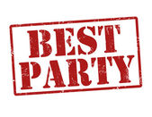 Best party stamp — Stock Vector