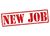 New job stamp — Stock Vector