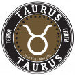 Taurus zodiac label — Stock Vector #33664823