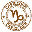 Capricorn zodiac grunge stamp — Stockvectorbeeld