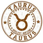 Taurus zodiac grunge stamp — Stock Vector