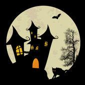 Noite de dia das bruxas assustador — Vetorial Stock