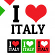 I love Italy sign and labels — Stock Vector #33939843