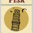 Tower of Pisa poster — Stock Vector