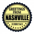 Greetings from Nashville label — Stock Vector