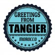 Greetings from Tangier label — Stock Vector
