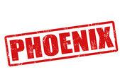 Phoenix stamp — Stock Vector