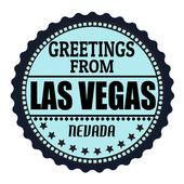 Greetings from Las Vegas label — Stockvektor