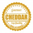 Cheddar stamp — Stock Vector