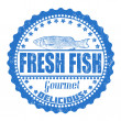 Fresh fish stamp — Stock Vector