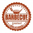 Barbecue stamp — Stock Vector