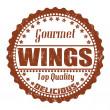 Wings stamp — Stockvectorbeeld