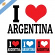 I love Argentina sign and labels — Stock Vector
