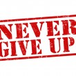 Stock Vector: Never give up stamp