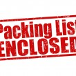 Stock Vector: Packing list enclosed stamp
