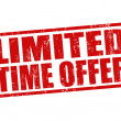 Limited time offer stamp — Vettoriale Stock