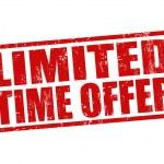 Limited time offer stamp — ストックベクタ