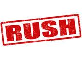Rush stamp — Stock Vector
