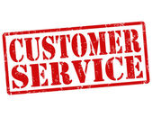 Sello de servicio al cliente — Vector de stock